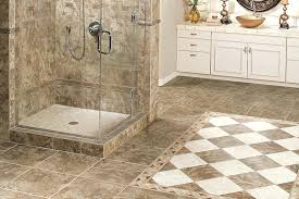 porcelain or ceramic tile for shower bathroom marble look ceramic tiles floor walk in shower intended