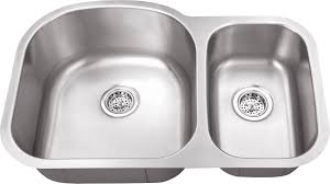 Polaris Sinks Undermount Stainless Steel 28 In Double Bowl Ideal Standard Kitchen Sinks