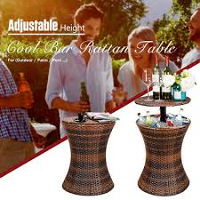 cool bar ice cooler adjustable rattan
