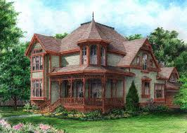 Victorian Style Home Plans  Gothic House Floor Plan  Victorian Style Home Plan C