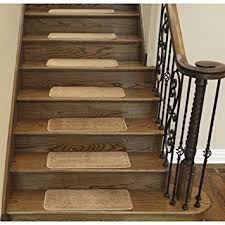 softy stair treads solid beige camel hair skid resistant rubber backing non slip carpet 9