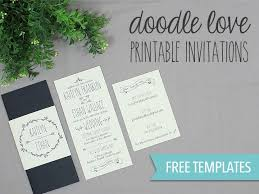invitation download template diy tutorial free printable doodle wedding invitation set boho