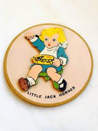 Vintage Little Jack Horner Wall Hanging   Etsy