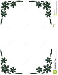Border Black And White Black White Floral Border Stock Vector Illustration Of