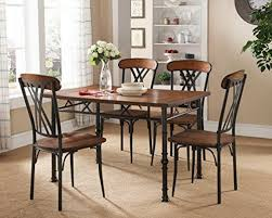 kings brand furniture ash finish wood with metal dining dinette kitchen table 4 chairs