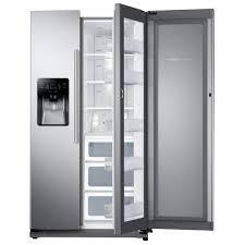 Top Ten Side By Side Refrigerators Samsung 247 Cu Ft Side By Side Refrigerator In Black Stainless