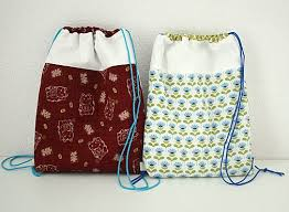 Drawstring Backpack Pattern Interesting Free Sewing Pattern Drawstring Backpack For Kids Crafts