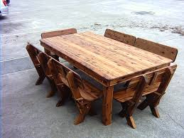 excellent rustic wood outdoor furniture image design cypress care in wooden tables plan 12