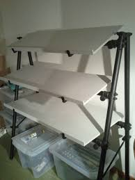 file shelf jaspers 3d 3 tiers keyboard stand with homemade wooden shelves by david j jpg