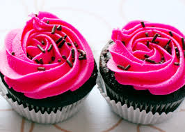chocolate cupcakes with pink icing recipe. Brilliant Recipe Chocolate Chip Cupcakes With Hot Pink Vanilla Cream Frosting Throughout With Icing Recipe