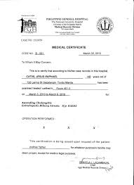 Medical Certificate Template Medical Certificate For Employment Sample New Template Medical 9