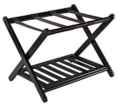 Luggage Racks For Guest Rooms Magnificent Amazon Winsome 60 Luggage Rack With Shelf Home Kitchen