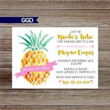 Hawaiian Pool Party Invitations Pineapple Last Flamingle Bachelorette Party Invitation Hawaiian