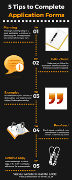 Tips For Completing Application Forms 5 Tips How To Complete Application Forms Infographic Uk