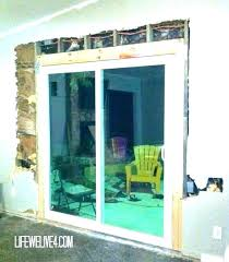 labor cost to install sliding glass door installing a sliding patio door installation cost install closet