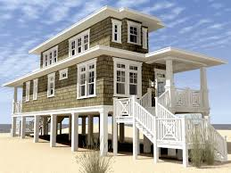 small beach house plans. Brilliant Small Small Beach House Plans On Pilings Two Storey In G