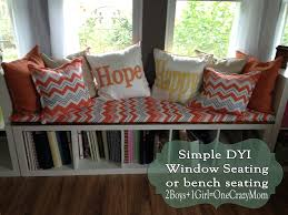 A simple, comfy and very sturdy window seat #DYI
