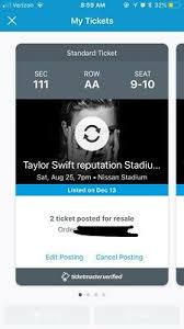 Metlife Taylor Swift Seating Chart 2 Taylor Swift Concert Tickets 7 21 Metlife Stadium