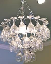 wine glass chandelier pottery barn