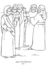 You might also be interested in coloring pages from jesus mission period category. Names Of Jesus 12 Disciples Coloring Pages Coloring Home