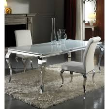 louis 160cm white and chrome dining table only