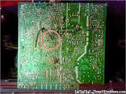 sharp 20 inch tv. gambar pcb bagian bawah mesin tv sharp - 20u20 20 inch tv