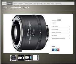 Nikon Af S Teleconverter Tc 20e Iii