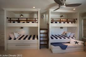 Cool bunk bed with trundle in Kids Traditional with Nautical Railing next  to Hidden Bed alongside Nautical