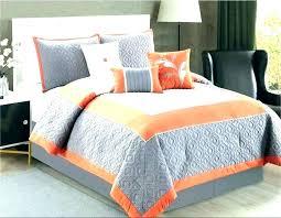 orange gray comforter sets king california and grey bedroom set bed