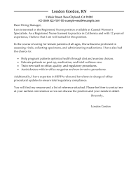 Leading Professional Registered Nurse Cover Letter Examples
