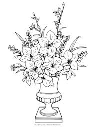 Incredible Ideas Flower Vase Coloring Pages Easter Flower Coloring ...