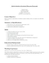 Resume Examples For Administrative Assistant Delectable Resume Templates Entry Level Administrative Specialist In Writing