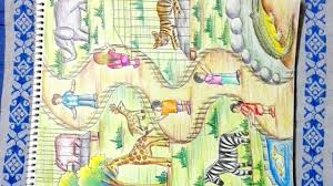 zoo drawing. Exellent Zoo How To Draw Zoo  Step By Step Drawing Of Animals To Zoo Drawing A