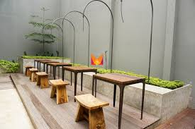 ambrogio patisserie bandung cafe restaurant seating area backside