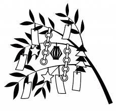 モノクロの七夕飾り 無料イラスト素材素材ラボ