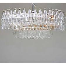 venini chandelier parts including frame and partial set of crystals ca 1970s italy enameled metal glass unmarked 29 x 49 rago auctions