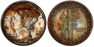 1941 10c Regular Strike Mercury Dime Pcgs Coinfacts