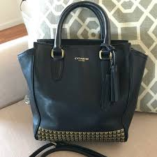 Coach Studded Mini Tanner Tote