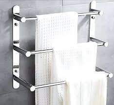 modern bathroom towel bars. Delighful Bathroom Bathroom Towel Bars Modern Stainless Steel Bar Rack 3 Layers Shelf Wall  Mounted Accessories In Racks Intended Modern Bathroom Towel Bars