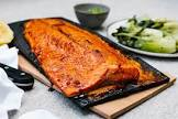 bbq cedar plank salmon with maple