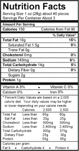 nutrition facts cheez ballz 3 oz
