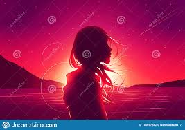 Silhouette Sad Girl Loneliness In ...
