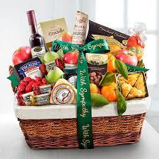 sympathy gourmet market favorites fruit basket
