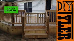Diy 2x4 Deck Gate 003 Youtube
