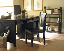 cool home office ideas retro black desk design with black chair and combine with brown awesome home office furniture