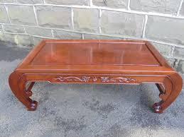 antique oriental chinese hardwood opium coffee table 1 of 9