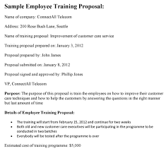 Course Proposal Template Employee Training Proposal Sample