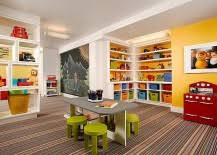 transform your basement into a fun and colorful kids playroom basement home office ideas