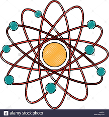 atomdesign isolated atom design stock vector art illustration vector image