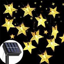 Amazon Solar Outdoor String Lights Solar String Lights Garden 8 Modes 50 Led Star Fairy Lights Outdoor Solar Powered Led Star String Light Waterproof Decorative Lights For Garden Patio